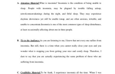 outline for a speech informative speech outline overcome insomnia