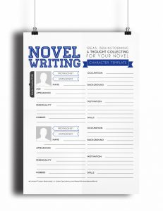 outline for writing a book novel writing template v expansion characters