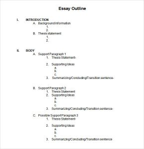 outline template word blank outline template word
