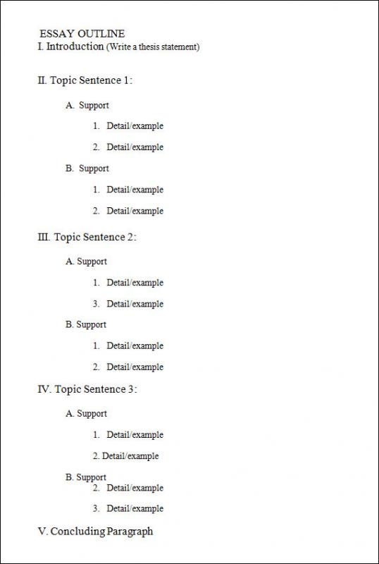 outline template word