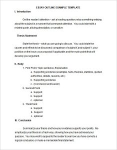 outline template word essay outline example free word doc editable download