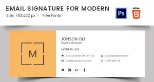 outlook signature templates modern