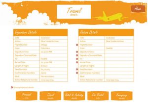 packing list for trip travel itinerary planner