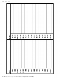 panel schedules template hourly day planner