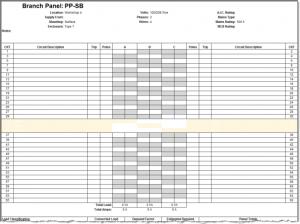 panel schedules template panel split bus