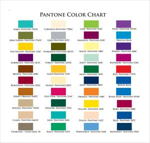 pantone color chart pdf example of pantone color chart