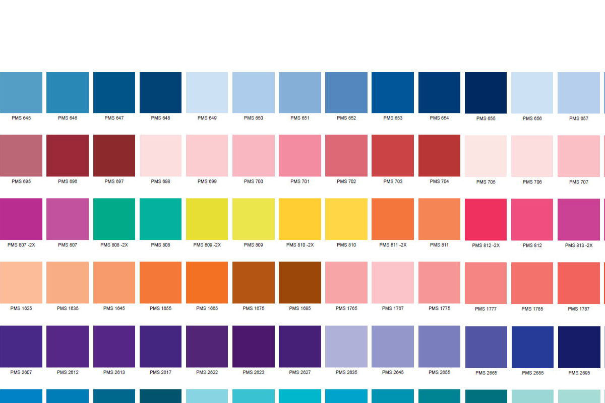 Pantone Color Chart Pdf Template Business