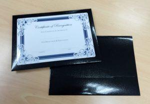 paper clip holder art card certificate holder e