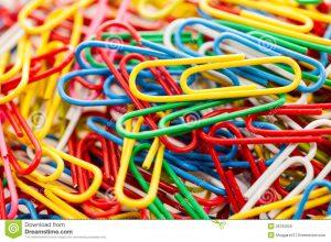 paper clip holder colorful paper clip white background