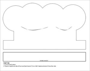 paper hat template printable white paper chefs hat template