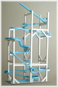 paper roller coaster bluecoaster