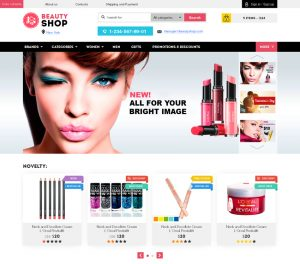 parallax website template beauty shop cosmetics perfume store html template