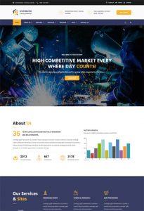 parallax website template duisburg factory industrial html template
