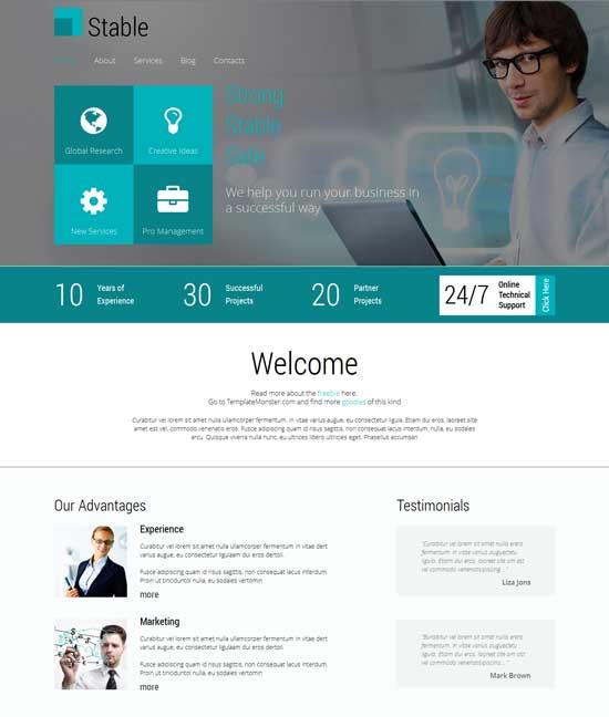 parallax website template