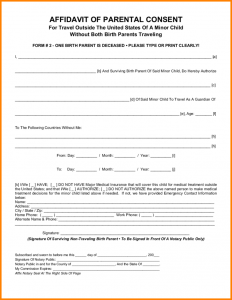 parental consent form travel consent form parental consent form for child travel l