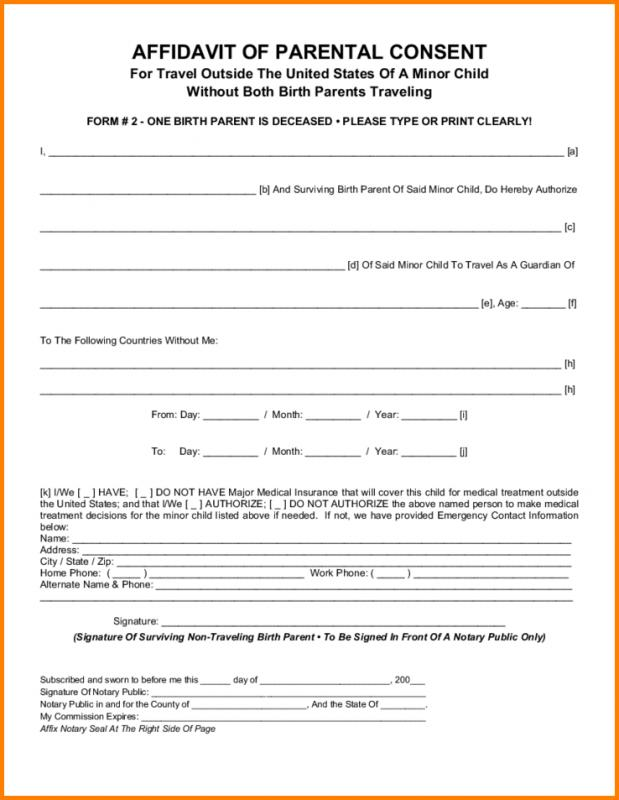 consent form template for children - parental consent form template business