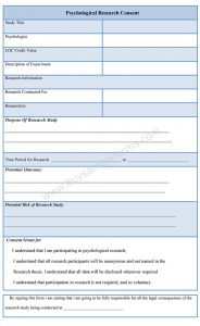 parents consent form psychological research consent form
