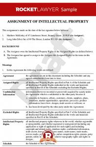 partnership agreement example assignment of intellectual property