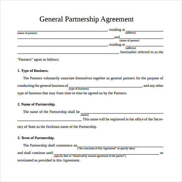 Business Partnership Contract Sample  OloschurchtpCom