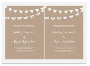 party planner templates free kraft paper printable wedding invitation