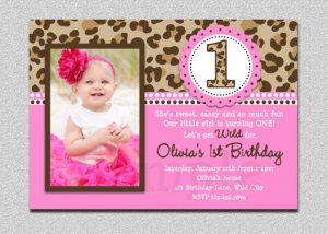 party planning template baby girl st leopard birthday invitation templates