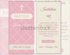 passport invitations templates baptism invitation template pink