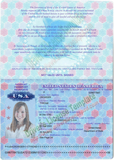 passport photo template psd