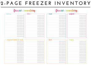 password template excel freezer organization