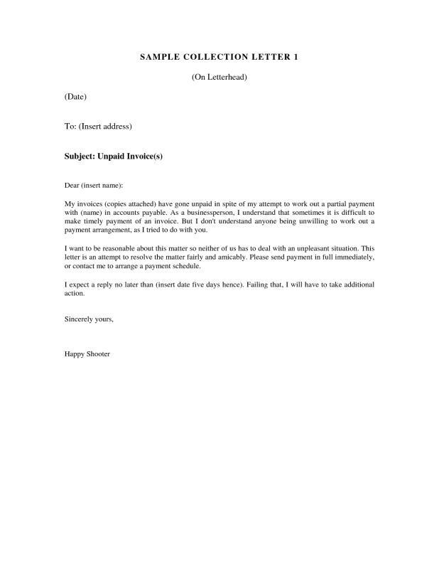 past due invoice letter
