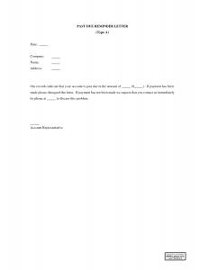 past due invoice letter past due invoice letter template qhzubxv