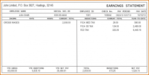 pay stub example check stub template sample pay stub