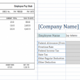 pay stub template excel free employee pay stub excel template x