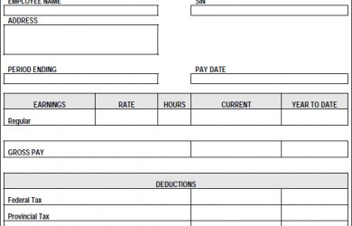 paycheck stub template pay stub template pdf