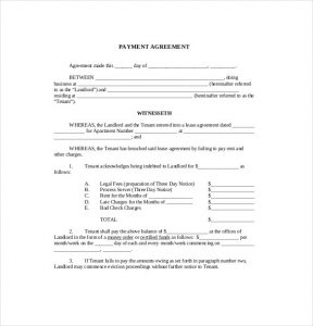 payment agreement template payment agreement templates free sample example format for payment agreement template