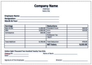 payment agreement template between two parties salary slip template sample format inside salary voucher template