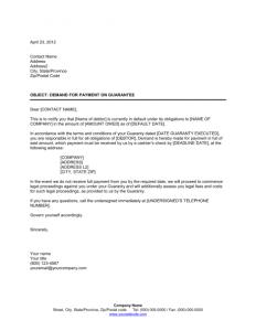payment demand letter