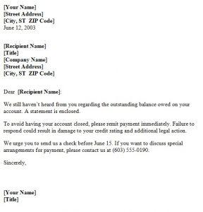 payment demand letter payment demand letter templatesample net