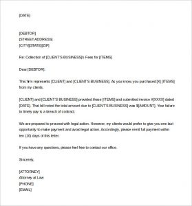 payment demand letter sample demand letter for collection template word editable