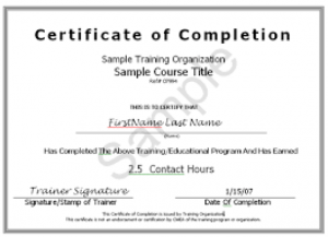 payment plan agreement certificate of completion template