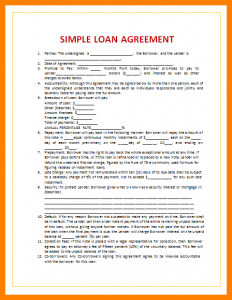 payment plan agreement template loan agreement letter sample simple loan agreement template