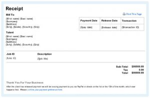 payment receipt sample online receipt