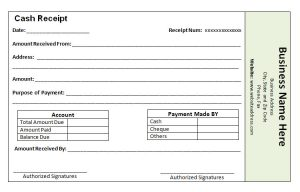 payment receipt template cash payment receipt template