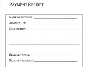 payment receipt template example of payment receipt
