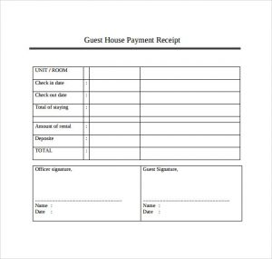 payment receipt template example of payment receipt template