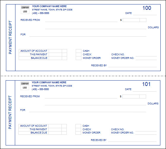 Payment Receipt Template | Template Business