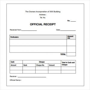 payment receipt template payment receipt sample
