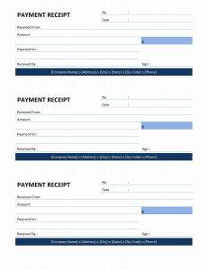 payment receipt template payment receipt