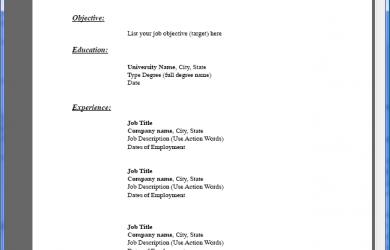 pdf resume template resumetemplate pdf
