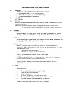 pe lesson plan template sample semi detailed lesson plan in digital electronics pcb designing