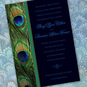 peacock wedding invitations emerald peacock wedding invitations